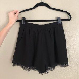 BCBG lace shorts